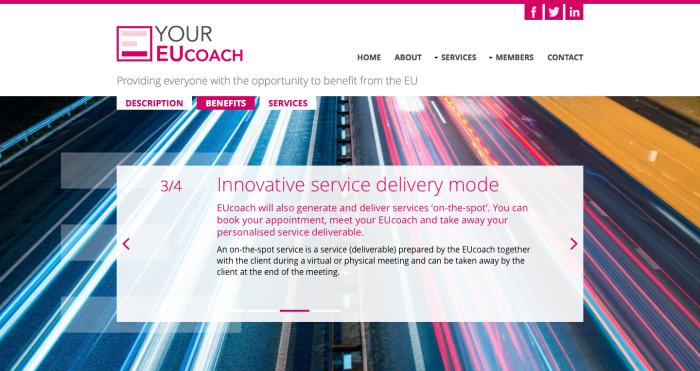 Incubator Europe website