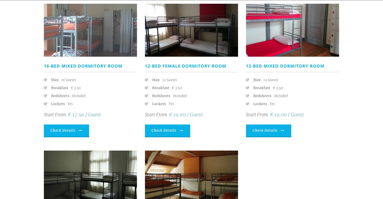 Boomerang Hostel Antwerp Website